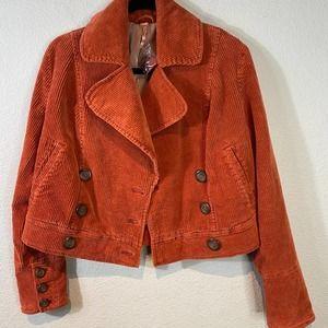 Free People Corduroy Cropped Jacket